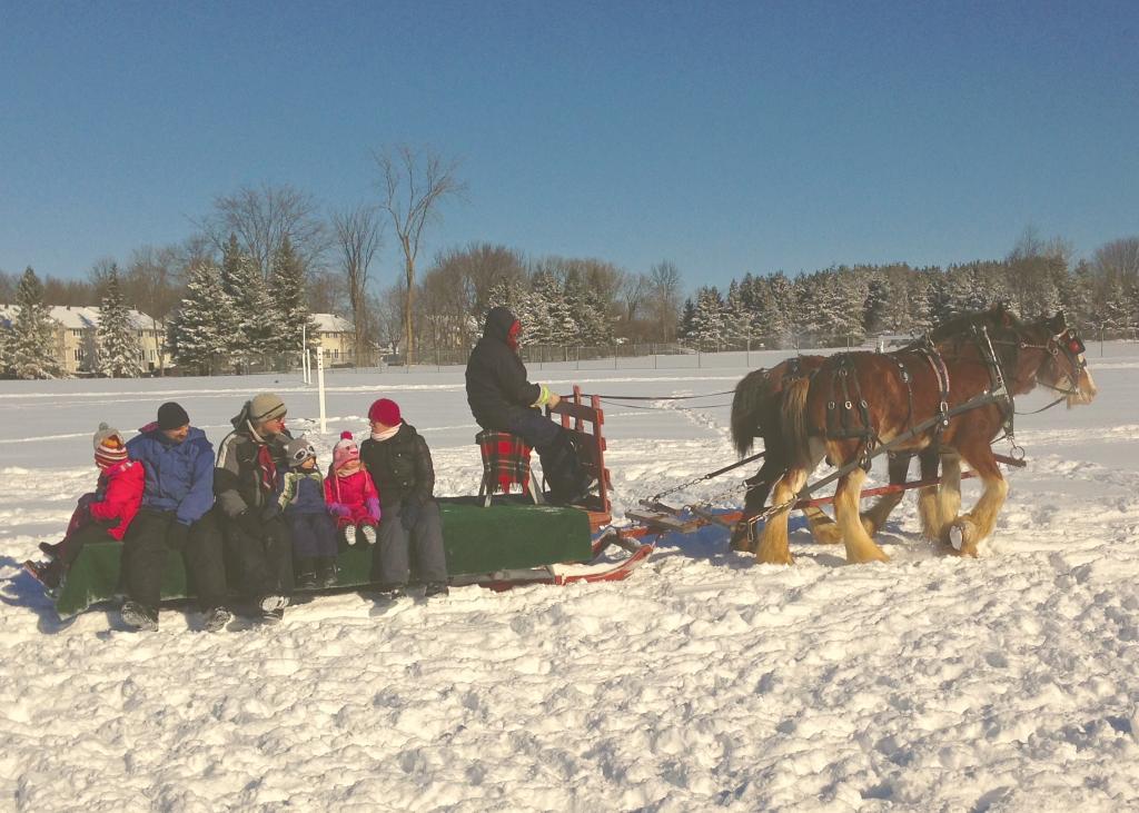 Free sleigh rides