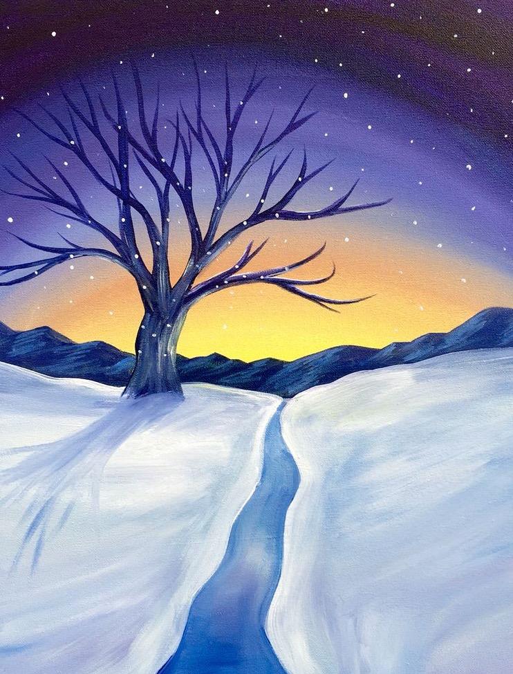 Fall Paint Nite: Winter Sunset on Nov 5
