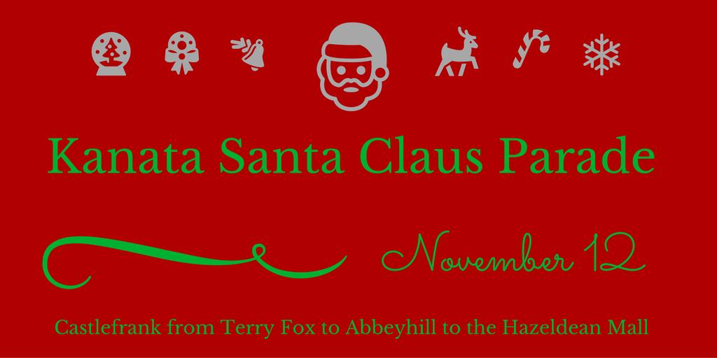 2016 Kanata Santa Claus Parade, 10am, Nov 12