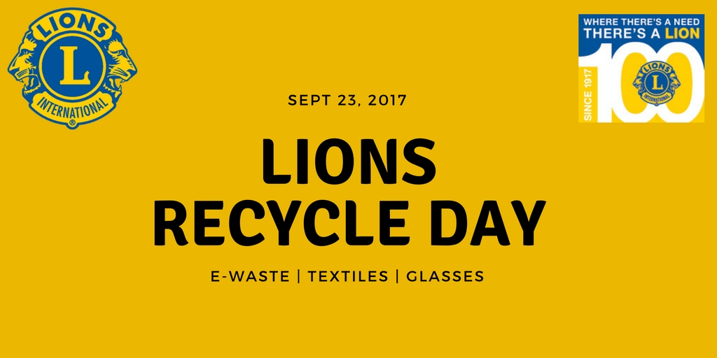 E-waste, textiles and glasses recycling event