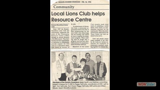 1992-02-18 Community donation